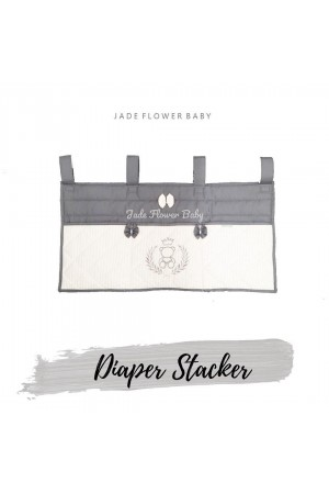 Diaper Stacker - White and Grey