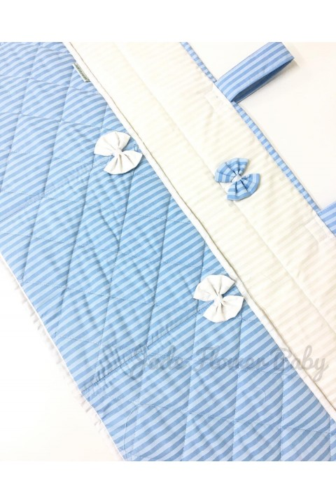 Diaper Stacker - Blue and White